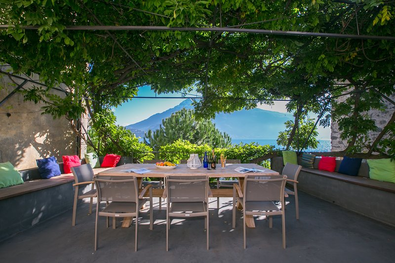 Romantic patio terrace