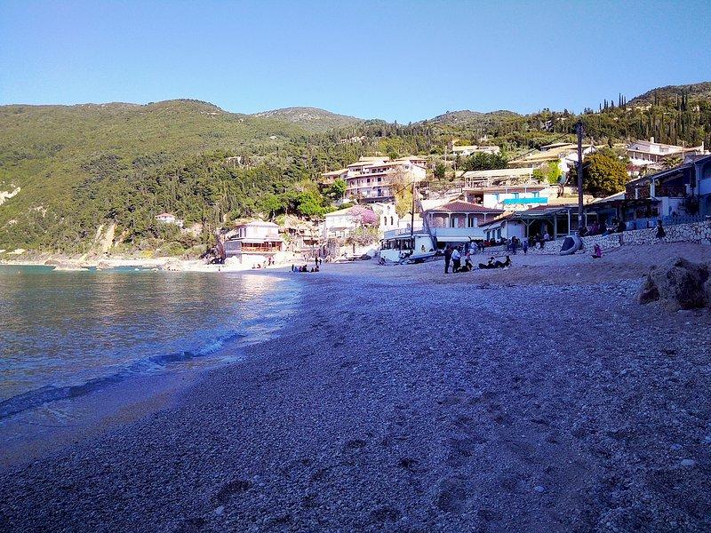 Picturesque Agios Nikitas village is 12 minutes away