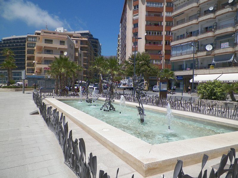 Childrens fountain by the Arenal beach.