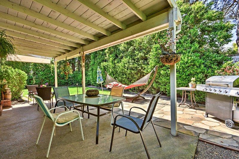 Unwind in this 4-bedroom, 2.5-bathroom vacation rental home in Fair Oaks.