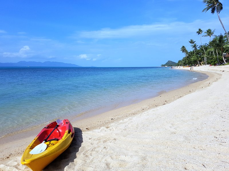 Beachfront Resort 2-Bedroom Villa Palm Only 40 Meters to Beach, vakantiewoning in Ang Thong