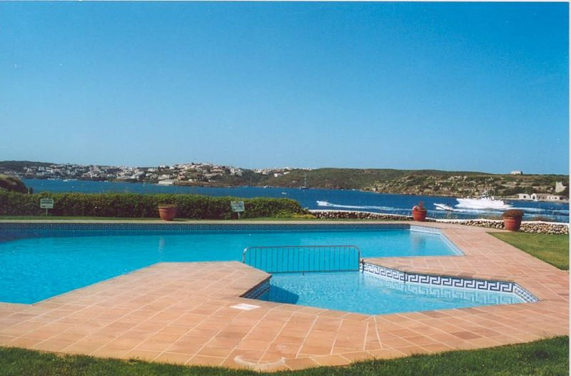 The pool overlooking Mahon harbour