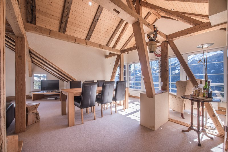 Chalet Hunnenfluh Penthouse, holiday rental in Canton of Bern