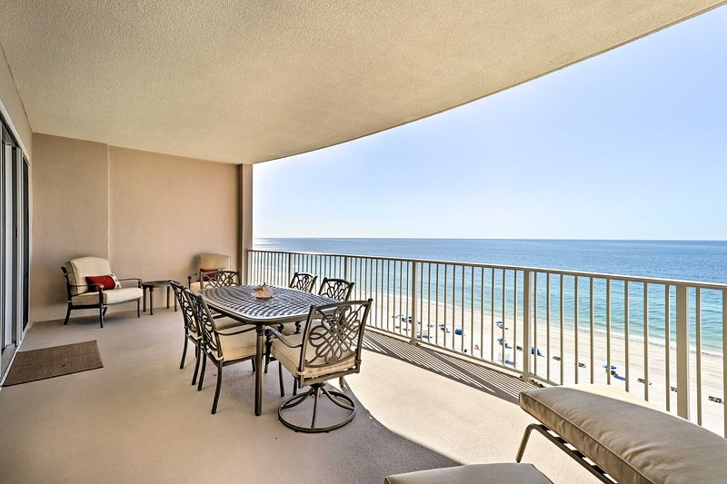Enjoy the Gulf at this beachfront 2-bedroom, 2.5-bath vacation rental condo.