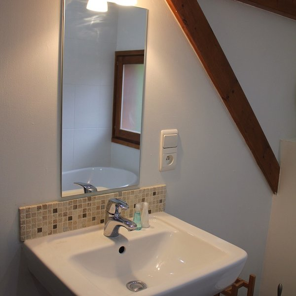 Detalhe do banheiro da família