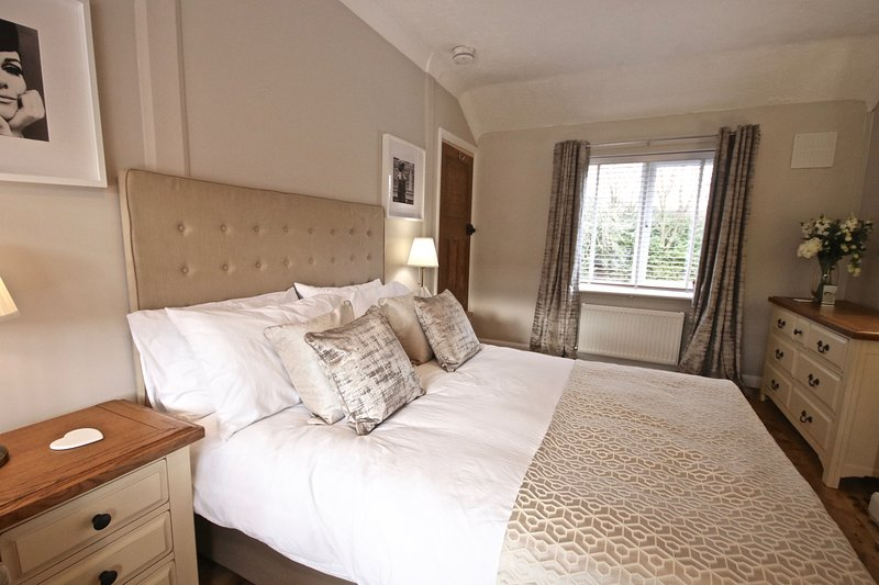We hope you like the master bedroom - a large comfy bed with all the wardrobe space for a large case