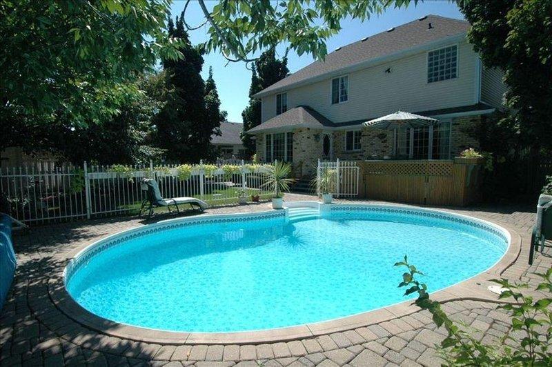 Saltwater, heated pool