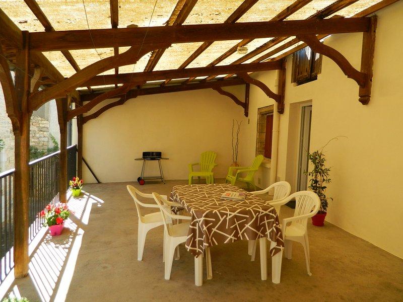 APPARTEMENT AVEC GRANDE TERRASSE AU CENTRE D'UN JOLI PETIT VILLAGE, holiday rental in Chartrier-Ferriere