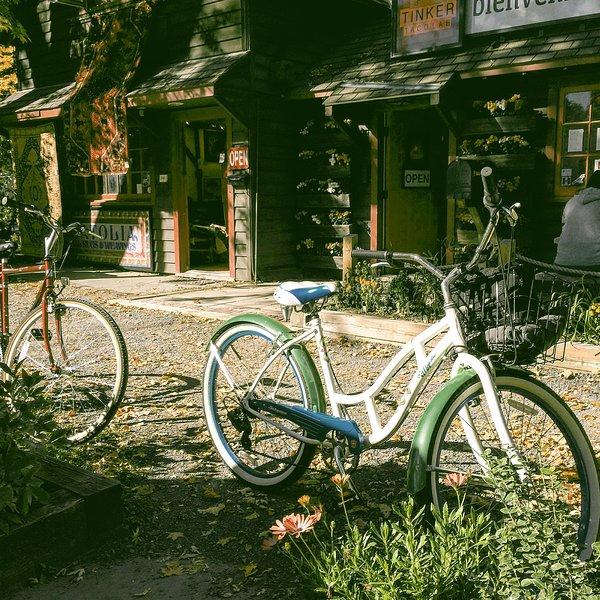 Bikes to cruise around town!