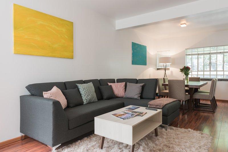 Three piece sofa.
