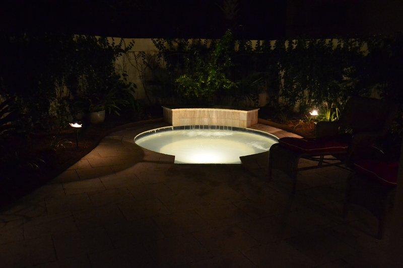 Beach Life Bliss-Splash Pool at night