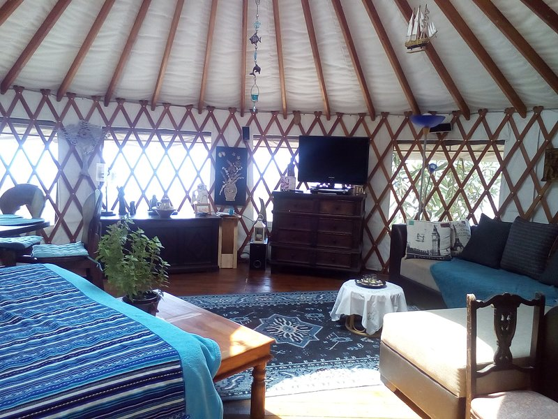 Light and airy Yurt