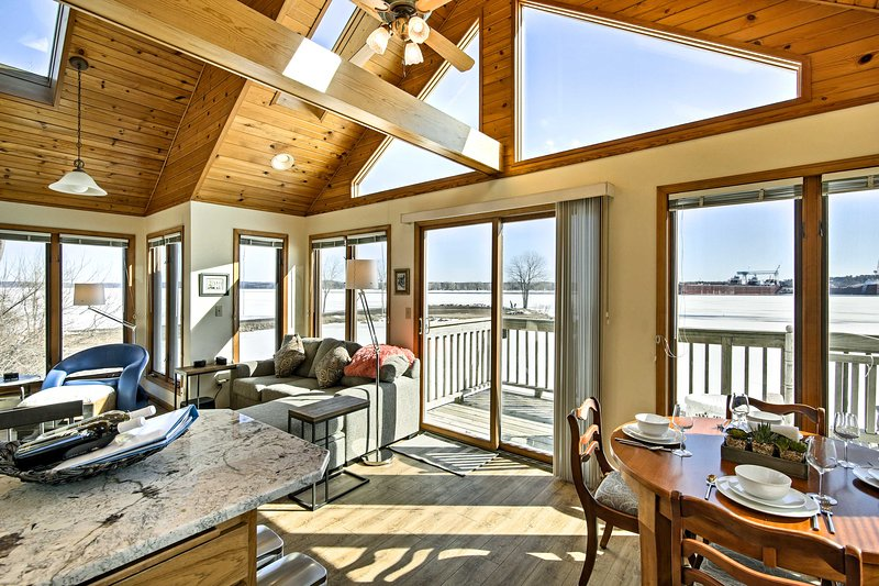 Explore Surgeon Bay from this waterfront vacation rental home!