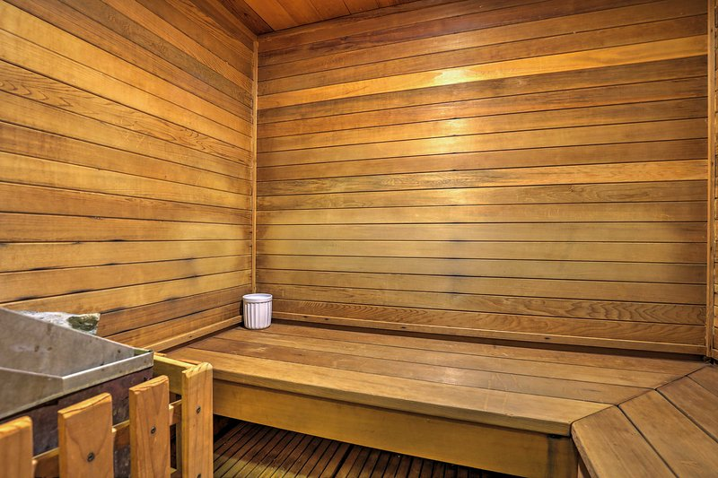 After a full day on the slopes, the community sauna is a welcome treat.