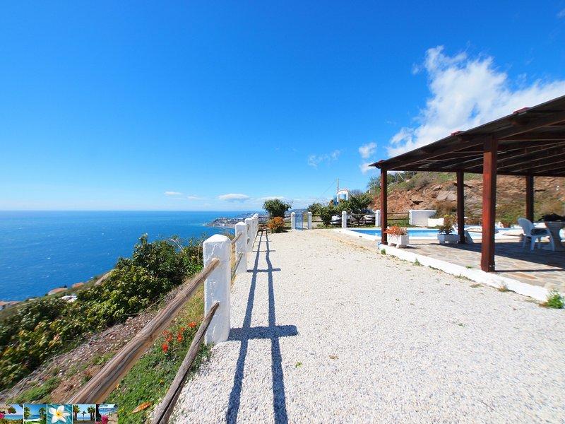 picturesque views of the mile-long coastline