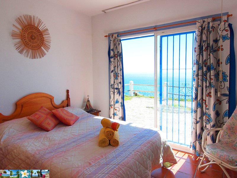 viewing the Mediterranean sea from the bed