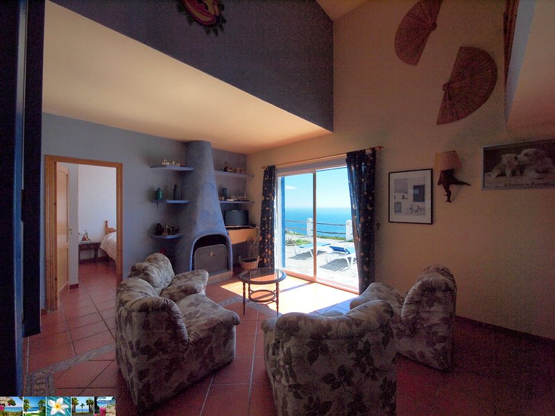 sea view from living-dining room