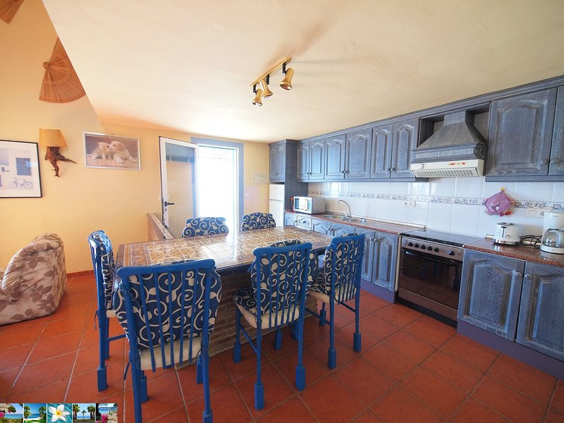 kitchen with dining table for 6