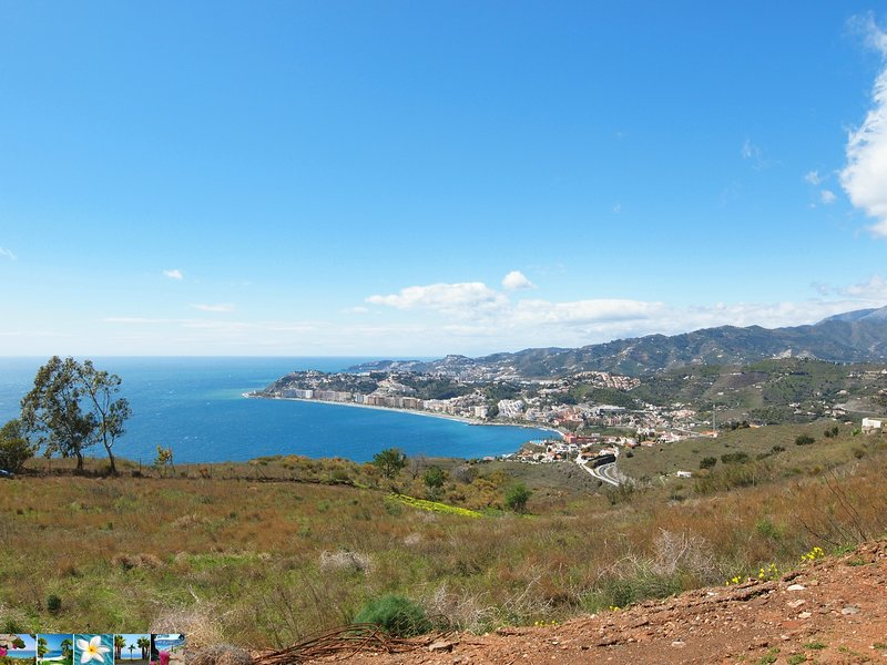 view to Almunecar coast and beaches