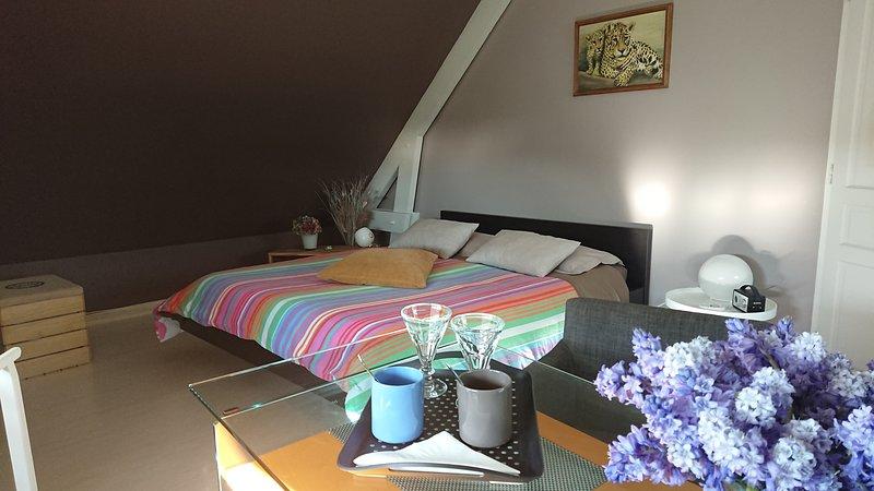 Suite Parentale avec Baignoire (Sans Jacuzzi) La chambre Taupe. La Forge Vimbert à 13 kms d' Etretat