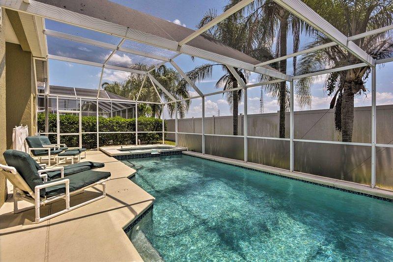 A magical Florida getaway awaits you at this Kissimmee vacation rental house.