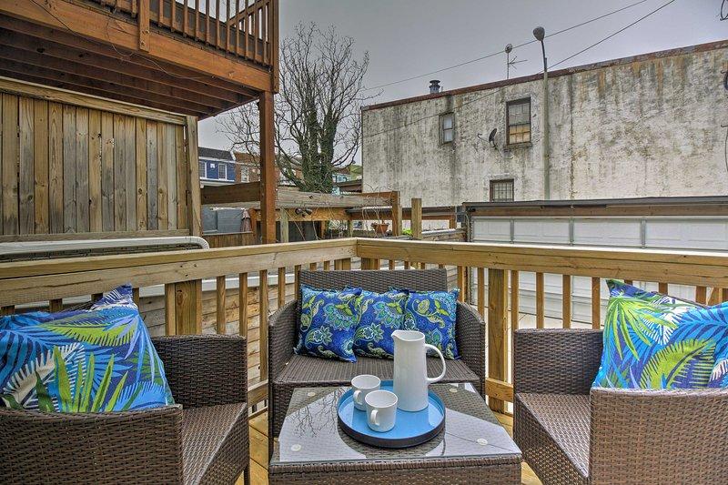 Mit einer möblierten Terrasse und Betten für 12, ist dieses Haus wirklich 5-Stern.
