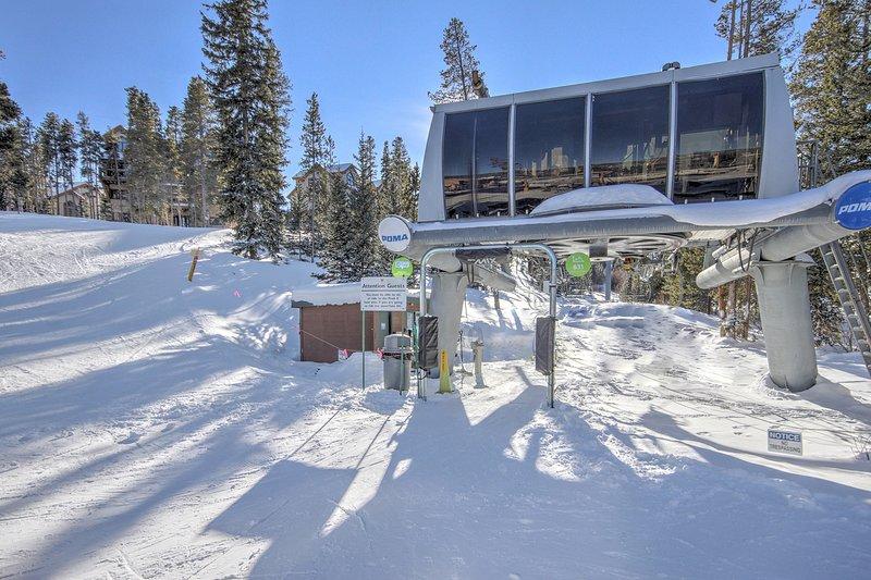 Nur ein kurzer Spaziergang zum Snowflake Aufzug!