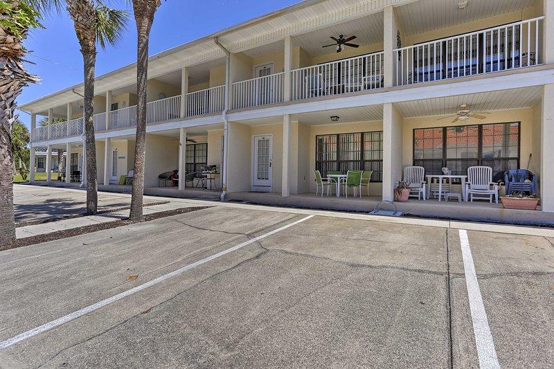 Op een steenworp afstand van het strand, dit appartement is een paradijs voor strand bunny's.