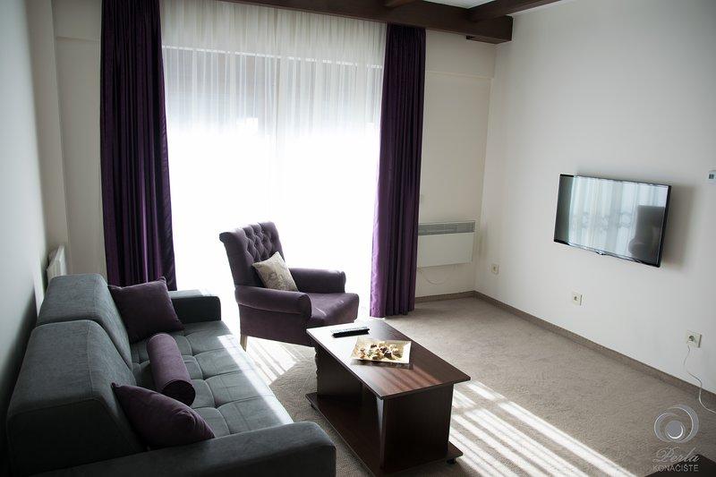 Vier kamer appartement, woonkamer