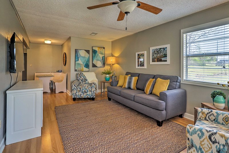 Cozy and clean, this charming Higden vacation rental house is the place to be!