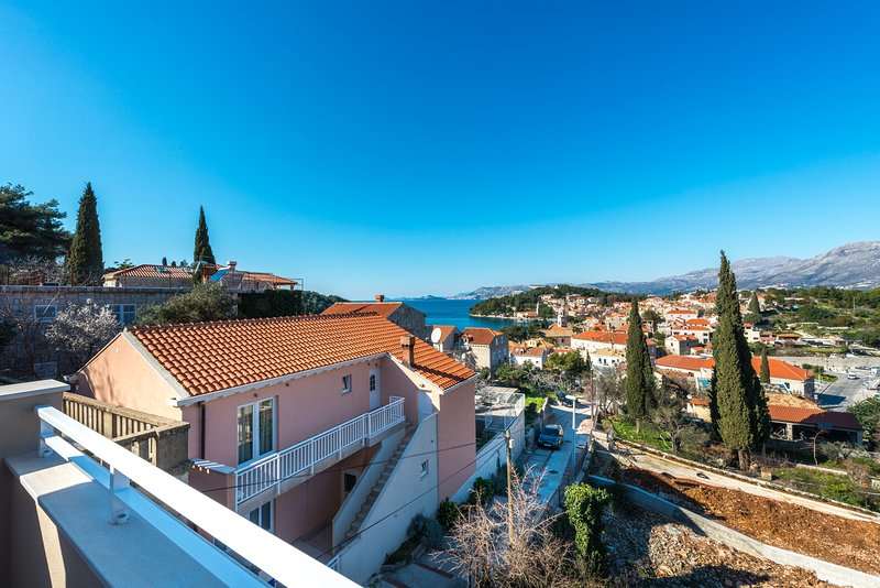 Situated on the 2nd floor has,balcony with sitting garniture and with nice sea/city view.