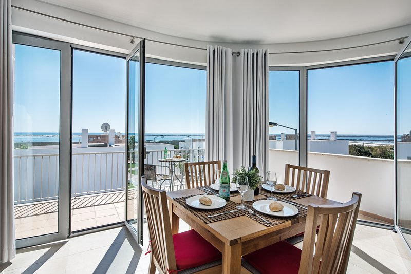 Simply stunning views from the wrap around floor to ceiling windows