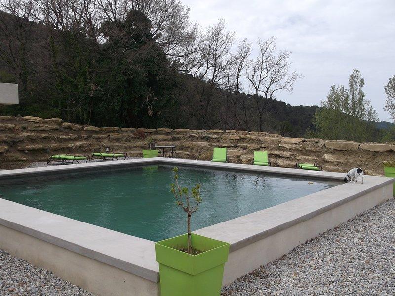 Nuestra hermosa piscina!