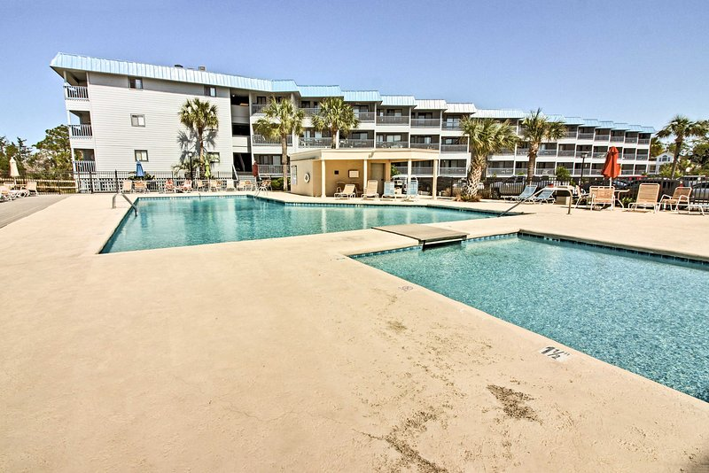 If you prefer to stay sand free, hop in the community pool.
