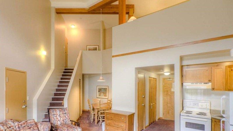 I soffitti alti rendono lo spazio più luce e arioso