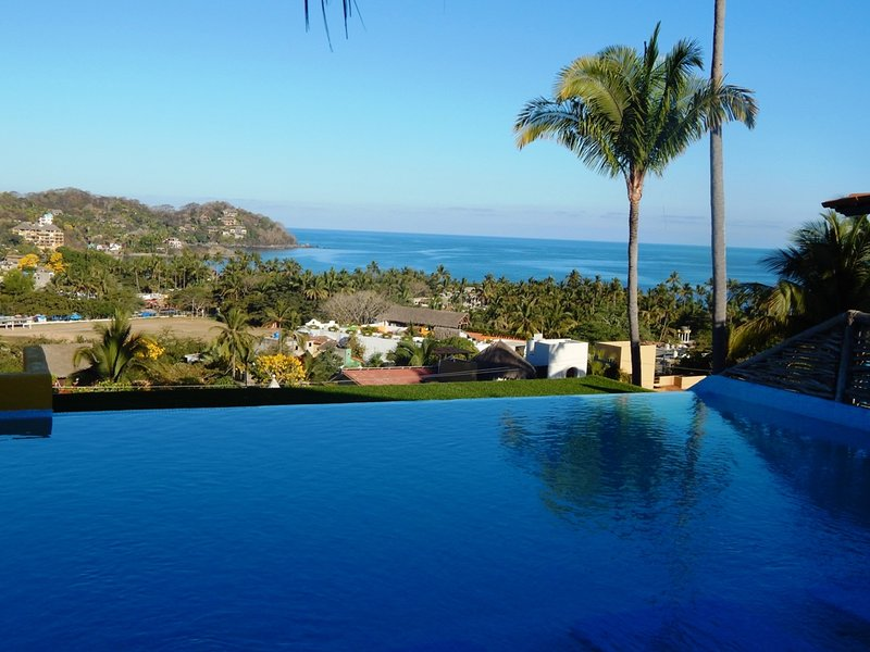 Enjoy our 180 degrees views from the infinity pool
