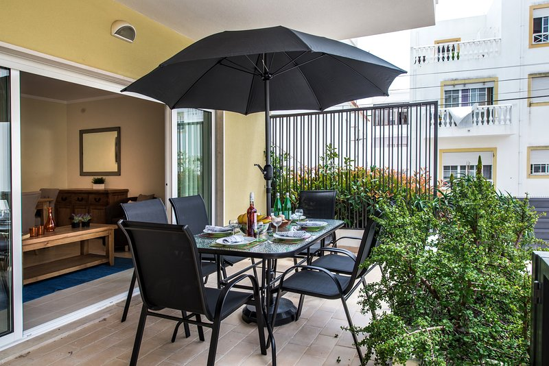 Our gorgeous terrace with outside furniture to compliment the space