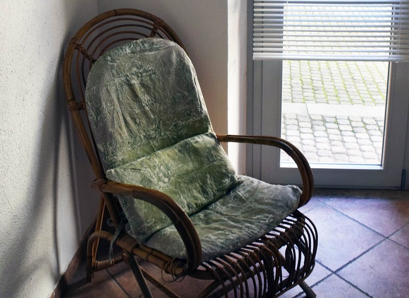 special relaxation area, the chair of the grandmother