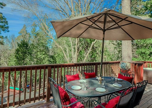 Relax and enjoy the beautiful mountain views from the home.
