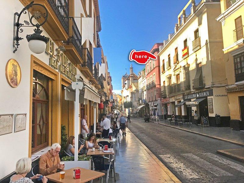 Idéalement situé dans le centre de Séville avec une variété de restaurants et de boutiques