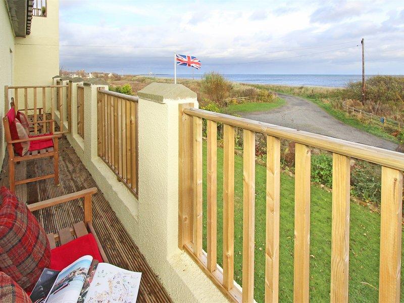 Enjoy fabulous sea views from the balcony