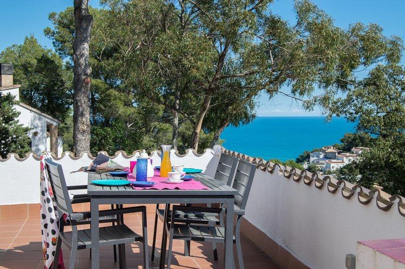 terraza con vistas al mar y barbacoa-SA PUNTA COSTA BRAVA