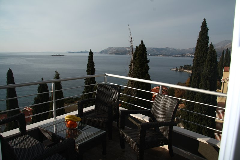 Lovely balcony with stunning sea views (corner one)