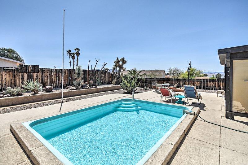 Explore Lake Havasu and enjoy a private backyard pool at this vacation rental home!