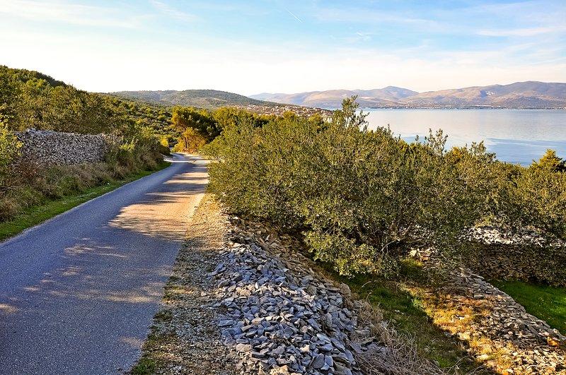 Hiking Trail and Olive Trees Around Čiovo
