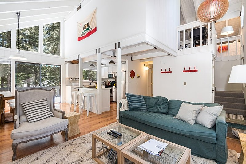 Open and bright living room with comfortable seating