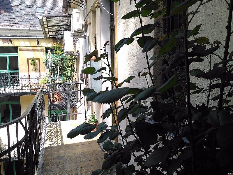 die Innere private Terrasse