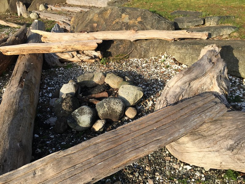Fire pit on the beach (wood supplied)