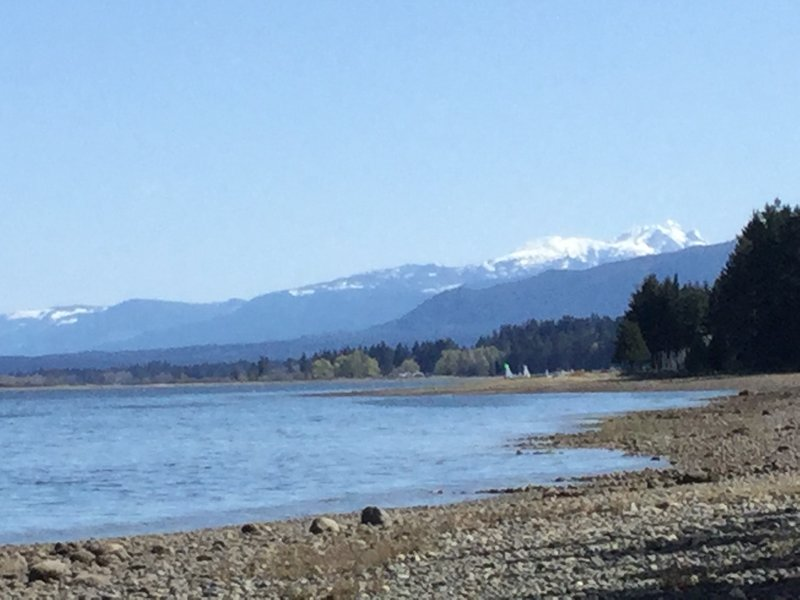 View of snow capped Mt Arrowsmith looking South