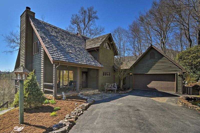 Dieses Haus in North Carolina Ferienhaus 'Mountain Crush' ist der Inbegriff von Luxus.